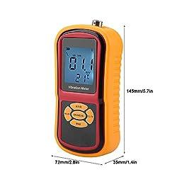 Naroote Digital Vibration Meter,LCD Display Vibration Meter Portable Mini LCD Display Digital Vibration Meter with Probe 0-40? GM63B