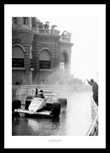 Framed Ayrton Senna 1984 Monaco Grand Prix Formula 1 42x30cm Photo Memorabilia Home of Legends