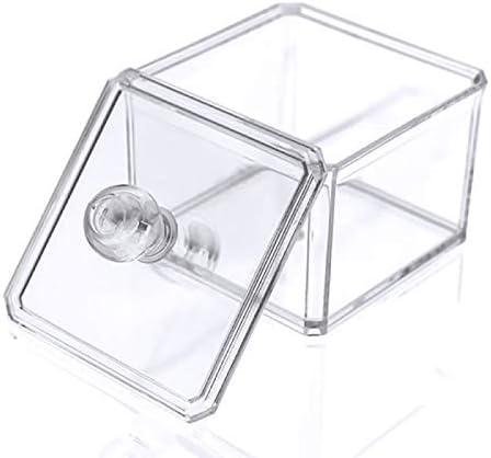 Soporte de sellos en algodón – Caja de almacenaje transparente para bastoncillos en caja de acrílico cottonswab con tapa: Amazon.es: Hogar