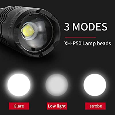 Outdoor Portable 3 Mods Torch Lamp Mini USB Charging Zoom LED Lights  Flashlight