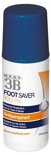 Neat Feat 3B Foot Saver Roll-On Antiperspirant for Feet, 2.0 Fluid Ounces