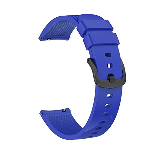Small Large Replacement Silicone Band Strap Wristband Bracelet for Ticwatch E (Blue, Large) by Hometom (Image #2)