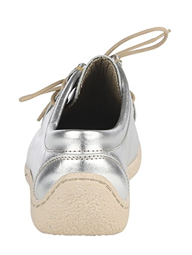 Schnürschuh Stil Mokassin Silberfarben im KLiNGEL AnaRWFAq
