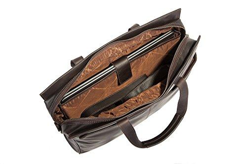 The Chesterfield Brand Damian Aktentasche Leder 40 cm Laptopfach Black
