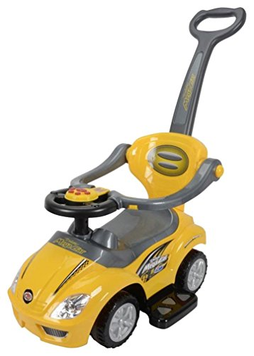 Best Ride On Cars 3-in-1 Push Car, Yellow
