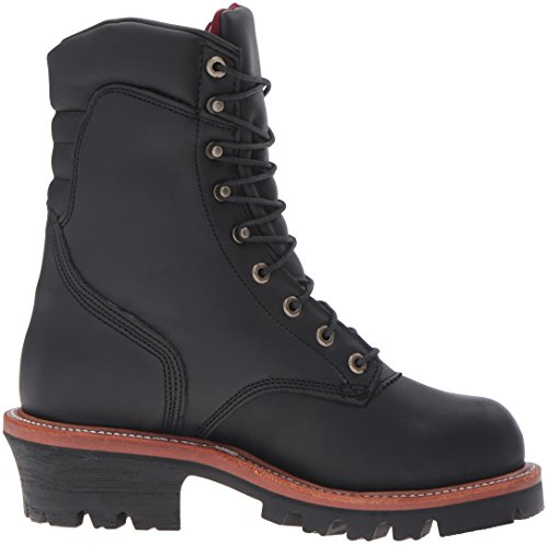 Chippewa Mens 9 Waterproof Insulated Steel-Toe EH Logger Boot Black Oiled RcaTcZPDeF