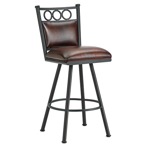 picture of Iron Mountain Waterson Swivel Bar Stool, Black Finish