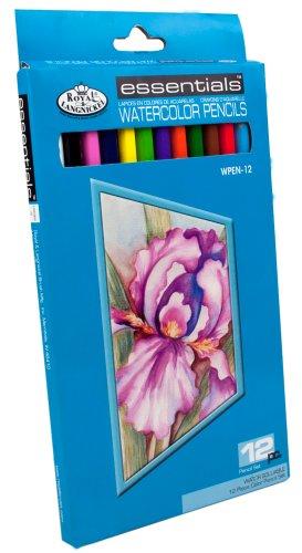 Royal & Langnickel Essentials Watercolor Pencil Set, 12-Piece Langnickel Watercolor Pencil