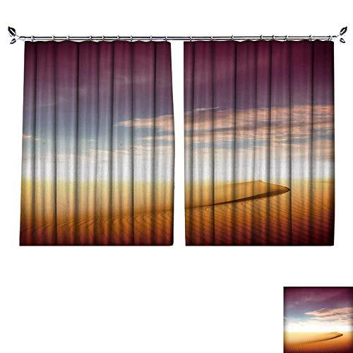 DESPKON The Shade Block Ultraviolet Sand Desert,Sunset for Bedroom, Living Room, for Shade. W120 x L108