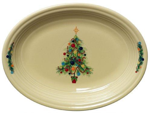 Fiesta 11-5/8-Inch Oval Platter, Christmas Tree