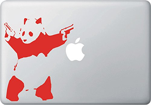 Shooting Panda - Macbook or Laptop Vinyl Decal Sticker - (5.75