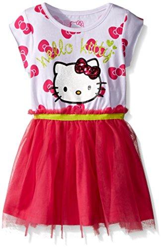 Hello Kitty Little Girls' Toddler Tutu Dress, Fuchsia Purple, 3T (Hello Kitty Toddlers)