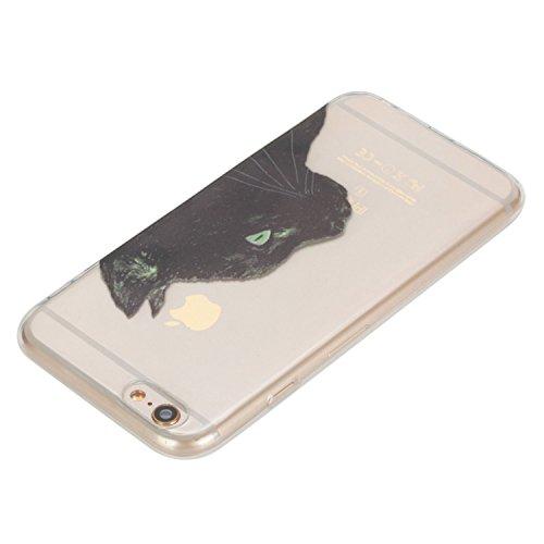 Beiuns pour Apple iPhone 6 Plus (5,5 pouces) Coque en Silicone TPU Housse Coque - HX540 Un dit de chat noir