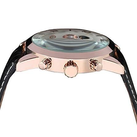 Forsining Mens Tourbillon Calendar Brand Automatic Wristwatches FSG165M3G1