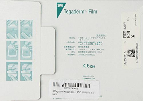 3M Tegaderm Transparent Film Dressing, Picture Frame Style, with Label, 4