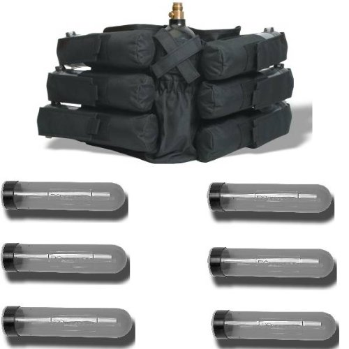GXG Paintball 6+1 Deluxe Harness Ammo Pack & 140rd Pods