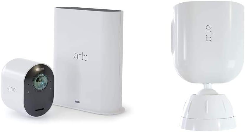 Caméra Ultra 4K Hdr Avec Station D'Acceuil et Support Aimanté Blanc Conçu...