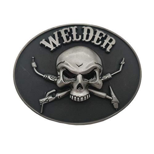 Welder Skull Belt Buckle Welding Helmet Tool Box