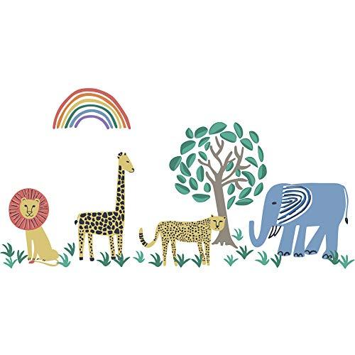 WallPops DWPK2004 Safari Kingdom Wall Art Kit, Multicolor