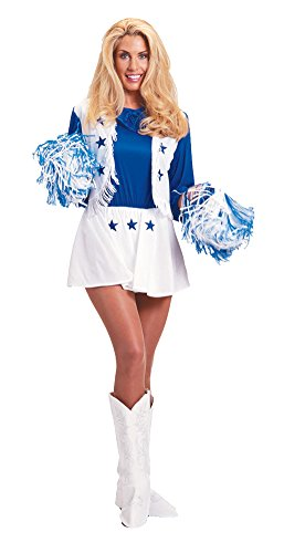 Dallas Cowboy Cheerleader Md Adult Womens Costume ()