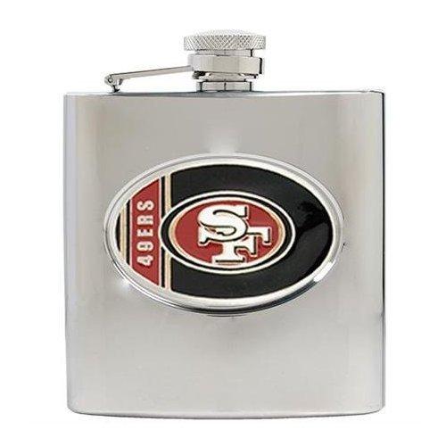 Amazon.com: NFL 49ers petaca de acero inoxidable: Kitchen ...