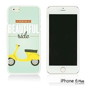 OnlineBestDigital - Typography Pattern Hard Back Case for Apple iPhone 6 Plus (5.5 inch) Smartphone - Beautiful Ride