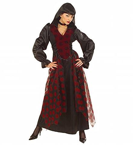 Ladies Victorian Vampiress Costume Medium Uk 10-12 For 19th 20th Century Fancy