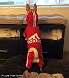 Idepet Cotton Adidog Dog Hoody Clothes, XXL, Red