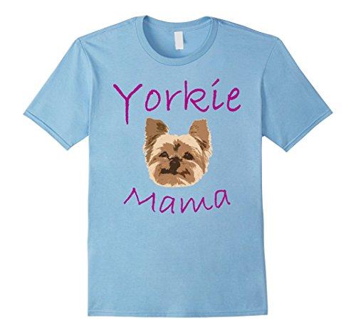 Womens Womens Yorkie Mom Proud Yorkshire Terrier Mama mom T Shirt 4 Large Baby (Yorkie Dog T-shirt)