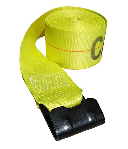 4 x 50 Ft Yellow Winch Strap with Flat Hook PN 425021Y