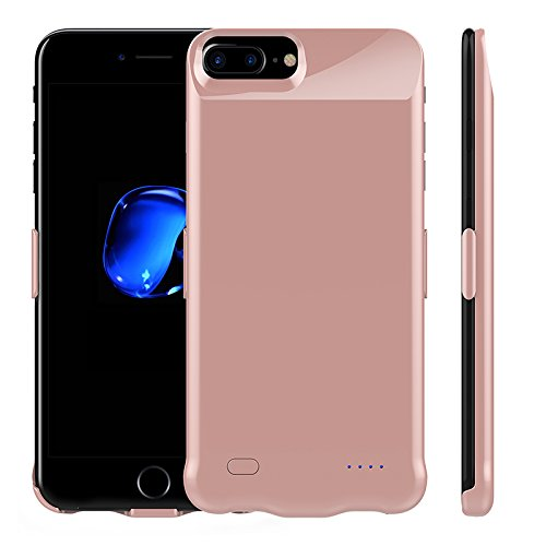 10000 mAh SuperSlim Battery Charging Slim For iPhone 6 7 8 Case Slimcase up 4 times more 100% powerful battery for Gamers, Outdoor,Travel, camp, Flight, study (rose gold) (Iphone 5s Case Flight)