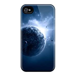 Flexible Tpu Back Case Cover For Iphone 4/4s - Planet View