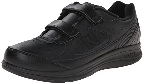 New Balance Men's MW577 Hook and Loop Walking Shoe, Black, 14 2E US