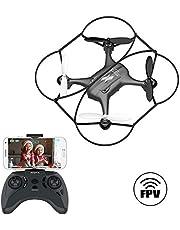 ATOYX AT-96 Drone FPV WiFi Quadcopter avec Caméra HD Réglable,Mode sans Tête Hauteur Fixe 3D Flips ,Un Bouton pour Le décollage et l'atterrissage ,hélicoptère pour Enfants/ Débutants