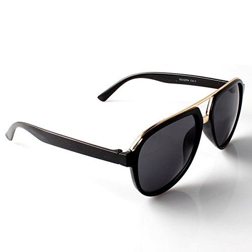 de Schwarzes negro única Gafas Gafas para hombre Accessoryo Talla sol sol Gold de 8z5dqn4