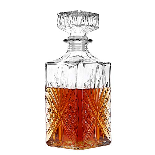 Decanter, Liquor Decanter, Lead-Free Whiskey Decanter, Glass Decanters For Alcohol 750ml