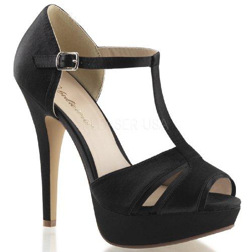 sexy 35 bout noir lolita satin sandales Fabulicious 20 strap t awRdRzfx