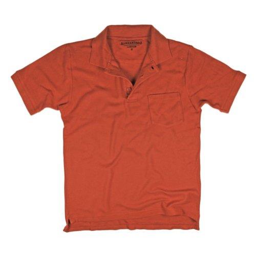 Alexanders de Londres 100% algodón suave Polo Pique, color negro/azul/borgoña/Naranja/Boston peltre Naranja Quemado