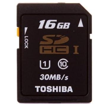 Toshiba SD-K016GR7AR30 - Tarjeta SDHC de 16 GB (clase 10 ...