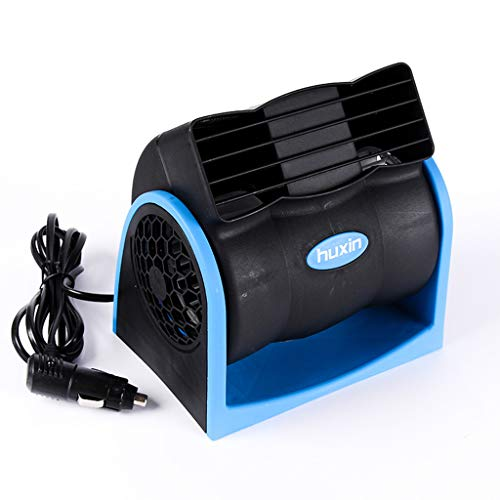 WEISHA 12V Car Vehicle Truck Cooling Air Bladeless Fan Speed Adjustable Silent Cooler System,Dual Centrifugal Blades Fan