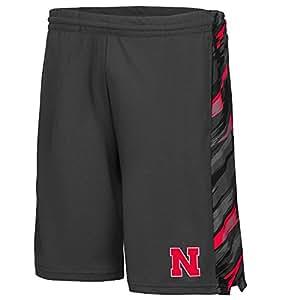 Mens NCAA Nebraska Cornhuskers Basketball Shorts (Charcoal) - 2XL