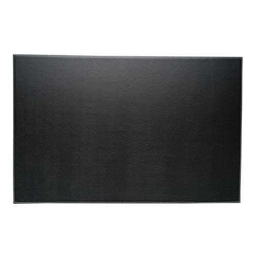 Bey-Berk Leather Desk Pad Black, 18 x 28,