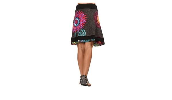 Coton du Monde - Falda ROSY - Mujer - T38 - Gris: Amazon.es: Ropa ...