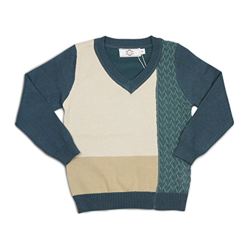 Boy's Pullover Sweater (8, Green / (Collection Cashmere Baby Sweater)