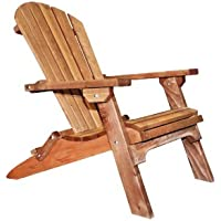Montana Woodworks Montana Collection Western Red Cedar Folding Adirondack Chair, Exterior Finish