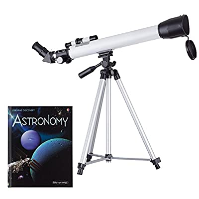 IQCrew's AmScope-Kids 30-180 X 600x50mm Telescope and Astronomy Book
