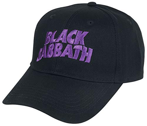 5588c0a3947ef Rock Off Black Sabbath Embroidered Logo Mens Baseball Cap