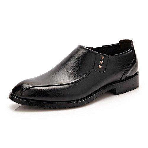 Dimensione Oxford sintetica in Mocassini con fodera Jiuyue Nero Marrone pelle sole 40 shoes Color Pelle 2018 Scarpe morbidi da Uomo EU wWcqT4pCq