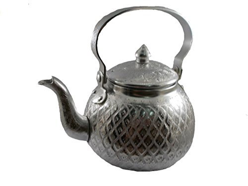1pc Vintage Tea Kettle Antique Tea Pot Set aluminum Kettle Set Collection Silver tea pot decor