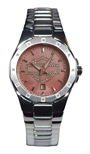 Harley-Davidson Women's Crystal Bar & Shield Stainless Steel Watch 76R02